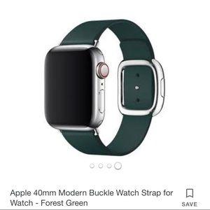 Hunter Green 40MM modern buckle apple watch band